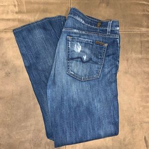 7FAM 7 For All MankindDiatressed Bootcut Jeans 34